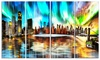 Colorful New York Cityscape - Large Glossy Metal Wall Art