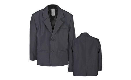 Boy Kid Teen Formal Wedding Party Blazer Dark Gray suit Jacket Sm-20