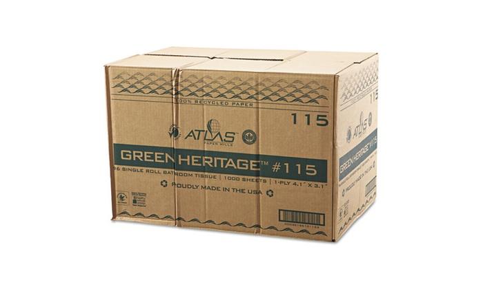 Atlas Paper Mills Green Heritage Bathroom Tissue Groupon