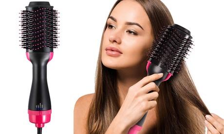 One-Step Hair Dryer & Volumizer Hot Air Brush No Frizz Blowout Straighten & Curl