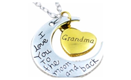 Grandma I Love You To The Moon and Back Necklace 2663e2d1-ae12-4476-a625-a1eeca7c54a1