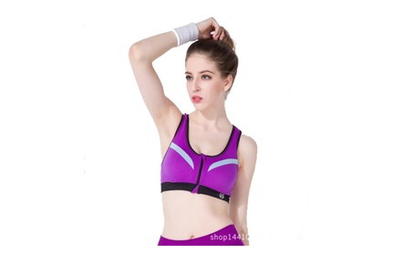 Women Bra Front Zipper Fitness Breathable Padded Breathable Bras 2f95feaa-493e-411d-b3de-20707a813c6e