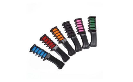 6pc Shimmer Hair Chalk Comb 34f5dd07-ade5-4051-8054-c45fc7e04815