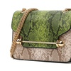 Leather Cross body Snake Serpentine Chain Women Shoulder Bags