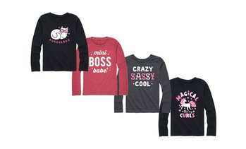Instant Message: Who Run The World Curls Girls Long Sleeve Tee
