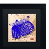Roderick Stevens 'Snap Purse Blue' Matted Black Framed Art