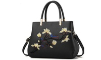 Women Messenger Bags Embroidery Luxury Handbags Designer (Beautywant) photo