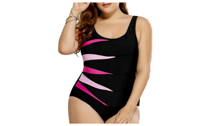 GrandGain: Women Shoulder Straps Padded Swimsuit One Piece Backless Bathing Suit