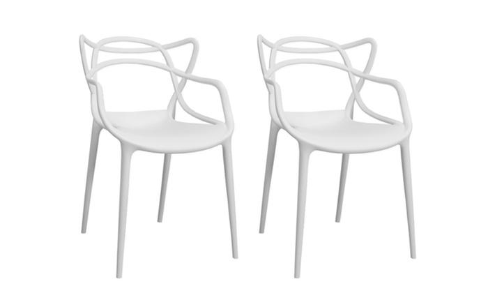 Loop Molded Plastic Indoor Outdoor Dining Chair
