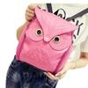 Women Pu Leather Owl Cartoon Backpack Casual Satchel