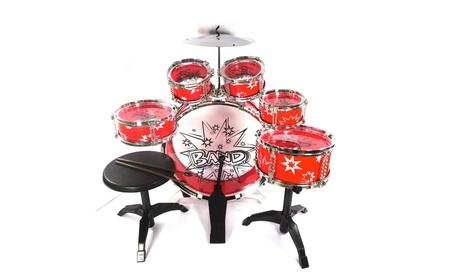 11pc Kids Boy Girl Drum Set Musical Instrument Toy Playset RED 6f941c3c-12d9-44ef-9c95-55f21c470bdc