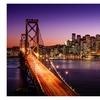 LED Lighted Famous San Francisco Oakland Bay Bridge Canvas Wall Art