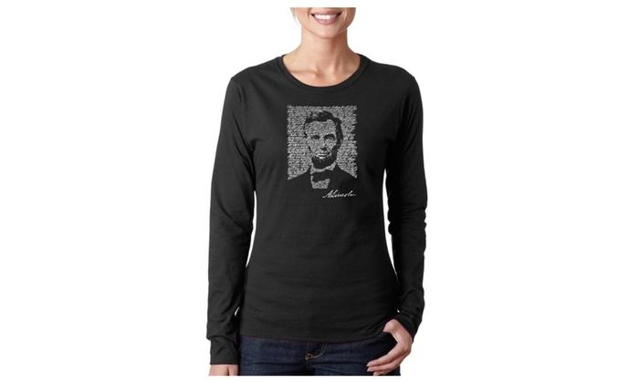 Women's Long Sleeve T-Shirt - ABRAHAM LINCOLN - GETTYSBURG ADDRESS