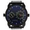 AG3736-14 Black/Black Leather Strap Watch by Louis Villiers - 1 Pc