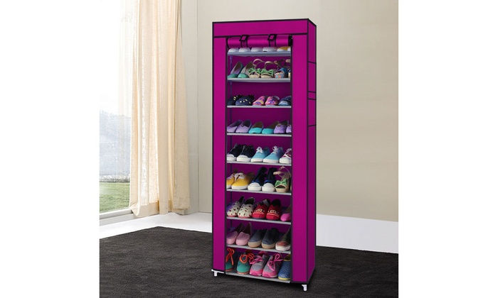 Up To 73% Off On 10 Tier Shoe Tower Rack With ... | Groupon ...