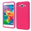 Insten Rugged Soft Rubber Case For Samsung Galaxy Grand Prime Hot Pink