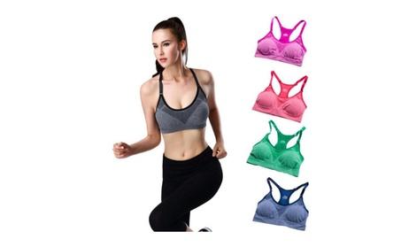 Seamless Stretch Workout Push up Bra 2f2216d1-0eb6-4cb4-ac3d-e107547958b1