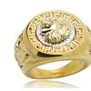 Vintage Gold/Silver Color Lion Head Rings for Men