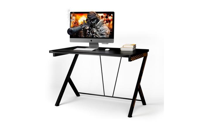 cb8b418ffaf9 Costway Gaming Desk Computer Desk PC Laptop Table Workstation Home Office