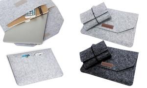 MacBook Laptop Felt Sleeve Bag Set with Power Cord Bag