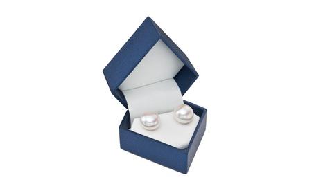 PearlGirl Gold Button Pearl Stud Earrings with Diamond Shape Gift Box 6b8c821b-c415-4075-8aac-8e37662529ee