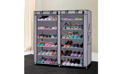 Shop Groupon Shoe Closet Rack Shelf Organizer Cabinet With Dust Free Cover