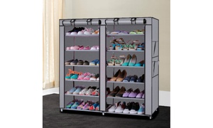 Shoe Closet Rack Shelf Organizer Cabinet with Dust-Free Cover