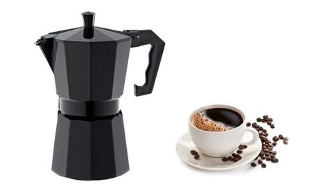 3 Cup Aluminum Black Coffeee Maker Espresso Maker photo