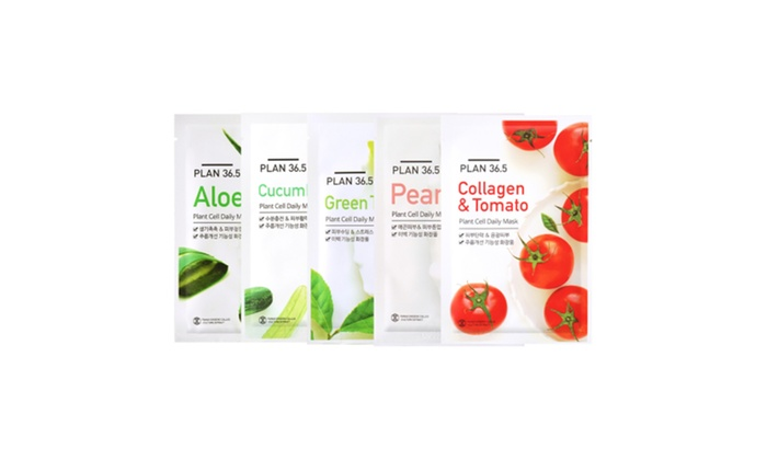 PLAN 36.5 Cucumber Plant Cell Daily Mask St. Ives Radiant Skin Pink Lemon and Mandarin Orange Face Scrub, 6 oz, 4 count