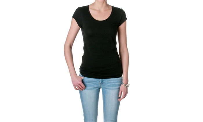 Active Basic Short Sleeve Scoop Neck Tee 8755-1