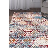 LR Home Fusion Distressed Damask Red/Blue Rectangle Indoor Area or Runner Rug