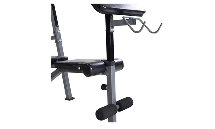 Prime Adjustable Weight Lift Bench Rack Set Fitness Barbell Inzonedesignstudio Interior Chair Design Inzonedesignstudiocom