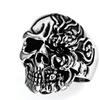 Stainless Steel Skull Ring; Sizes 10-14 SSR134
