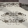 LR Home Infinity Distressed Medallion Brown Rectangle Indoor Area or Runner Rug