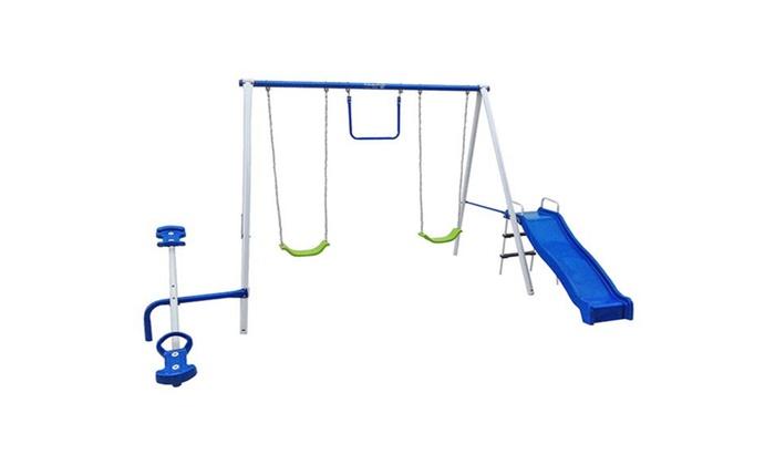 Flexible Flyer Fun Time Metal Swing Set Groupon