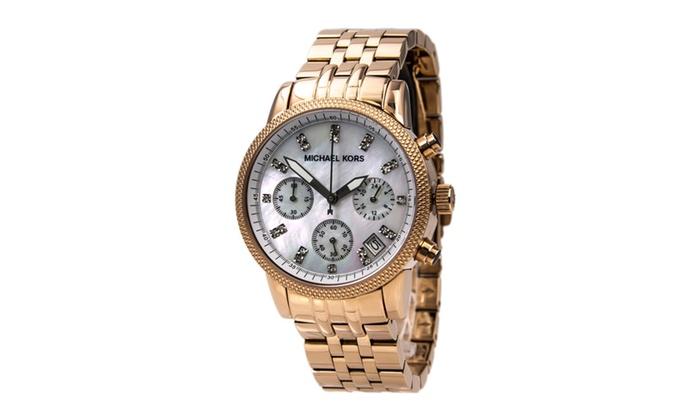 JV WATCHES: Michael Kors MK5026 Women's Damen Rose Gold Tone Watch