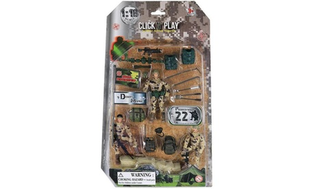 Click N Play Military Dessert Marine Action Figure 22 Piece Play Set 3ac4c6c4-3a5c-4738-b842-ed5035c12f4e