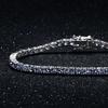 7.00 CTTW Tanzanite Round Cut Tennis Bracelet in 18k White Gold