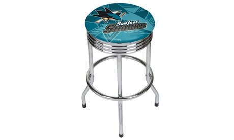 NHL Chrome Ribbed Bar Stool 77e75f13-b7ce-486b-8c09-dcade95afebc
