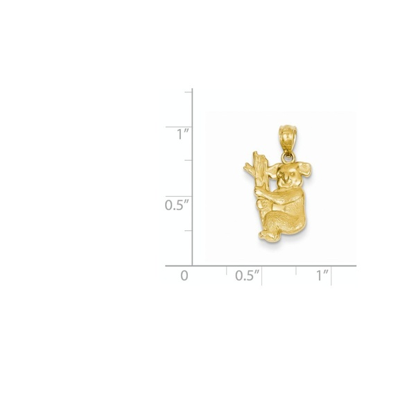 14k Yellow Gold Textured Koala Pendant