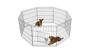 Portable Metal Wire Pet Playpen Kennel