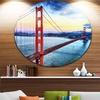 Golden Gate Bridge in San Francisco' Ultra Glossy Sea Bridge Metal Circle