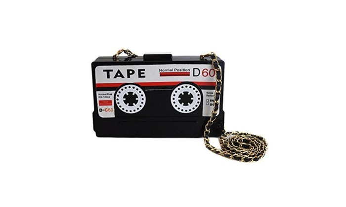 Elegant Tape Shaped Shoulder Bag Vintage Style Clutch Handbag