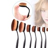 10Pcs Professional Makeup Brushes Set Oval