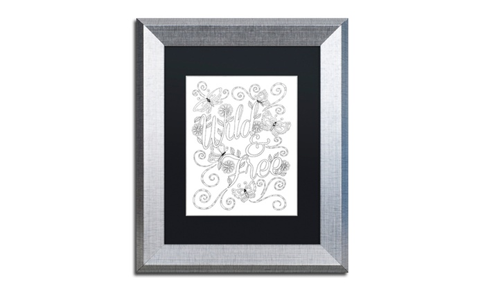 Groupon Goods: Hello Angel 'Letters & Words 11' Matted Silver Framed Art
