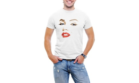 Marilyn Monroe Face Men T-Shirt Soft Cotton Short Sleeve Tee 9b0a95b4-adf9-47a6-b067-f943440125d9