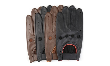 Vance Co. Mens Perforated Motorcycle Genuine Leather Driving Gloves 6269c50c-f102-44f6-b0e2-38aa07aa42a0