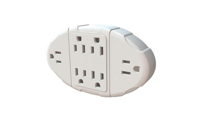 Stanley Electrical Wall Tap Outlet Transformer Six Plug USB Adapter