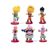 6pcs Dragon Ball Z Action Figure  Model Japanese Anime Toy
