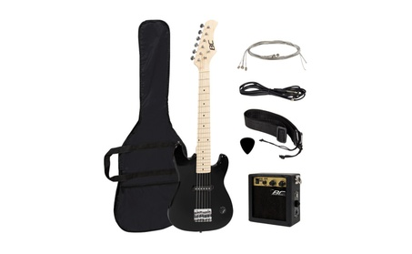 "Best Choice Products 30"" Kids Electric Guitar Kit w/ 5W Amp (Black) 5131ef08-19b8-4371-8a6a-d55a7d0d196a"